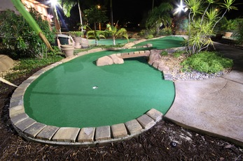 Mini Golf Stained Concrete